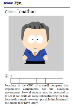 Business Value Game Persona card