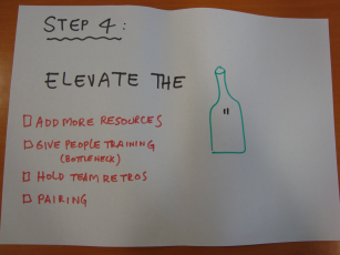 Step 4: Elevate the bottleneckl