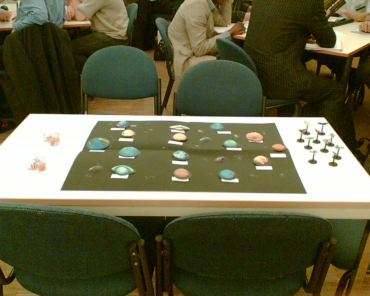 The space Game board before the start