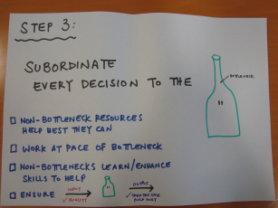 Step 3: Subordinate every decision to the bottleneck